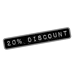 20 percent discount rubber stamp vector