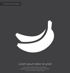 Banana premium icon white on dark background vector