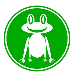 Frog button vector