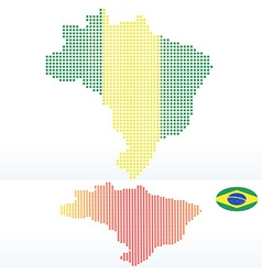 Map of federative republic of brazil with with dot vector