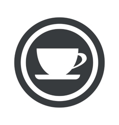Round black cup sign vector