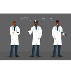 Man doctor in various poses vector