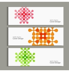 Pattern with abstract figures banners vector