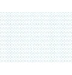 Cyan color hexagon grid a4 size horizontal vector image