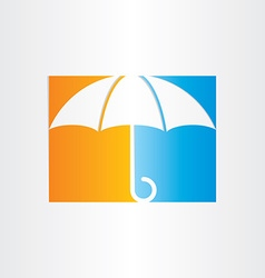 abstract umbrella icon design vector image