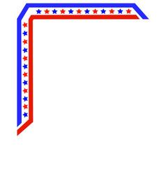 american flag frame corner vector image vector image