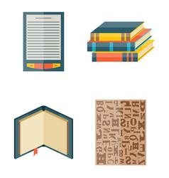 books icons document magazine publication vector image vector image