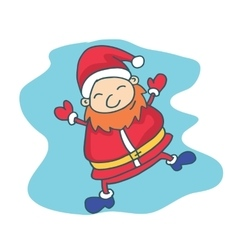 Collection santa claus christmas theme vector