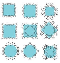 cute hand drawn frames 2007 vector image vector image