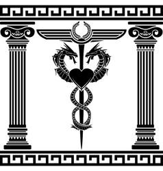 fantasy medical symbol stencil vector image vector image