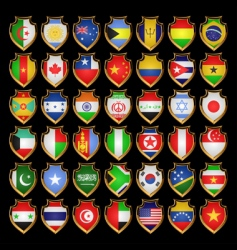flags badges vector image vector image