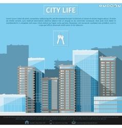 Flat city landscape vector image
