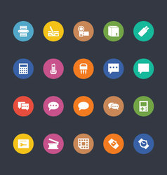 Glyphs colored icons 9 vector