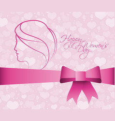 Happy womens day greeting poster vector