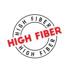 High fiber typographic stamp vector