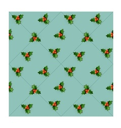 Holly berry with leaves vector image vector image