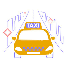 icon travel by taxi vector image vector image