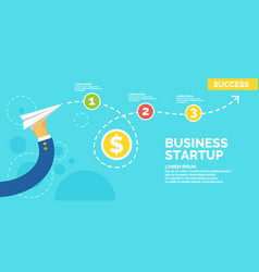 Infographics and poster for business start up vector
