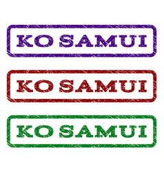 Ko samui watermark stamp vector