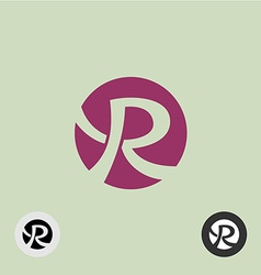 Letter r round logo vector