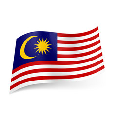 National flag of malaysia red and white vector