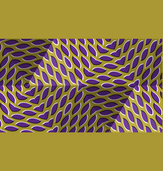 Optical motion abstract background spotted vector