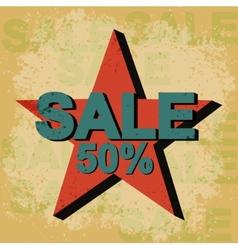 Sale Vintage Poster vector image