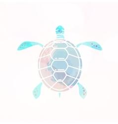 Sea turtle silhouette vector image vector image