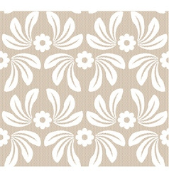 Seamless white lace background vector image vector image