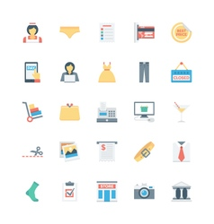 Shopping flat colored icons 3 vector