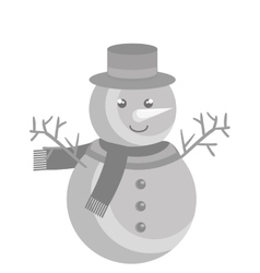 Snowman character christmas celebration vector