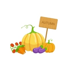 Vegetable crops as autumn attribute vector