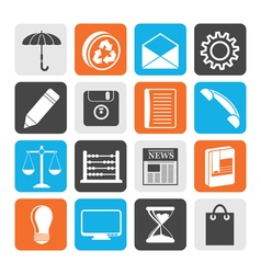 Black Business and Office internet Icons vector image