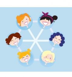 network social group vector image
