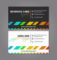 Business card template colorful design for vector