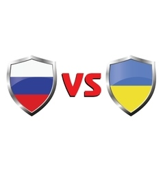 Russia vs ukraina flag icons theme vector