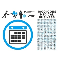 Month calendar icon with 1000 medical business vector