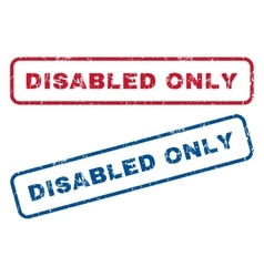 Disabled only rubber stamps vector