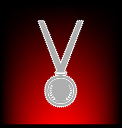 medal simple sign postage stamp or old photo vector image