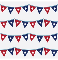 4th of july seamless bunting pattern vector