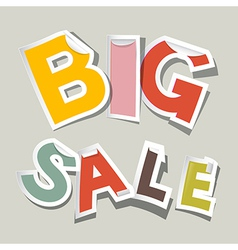 Big sale paper stickers vector