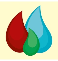 Cartoon water blood oil vector