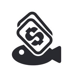 fish price icon vector image