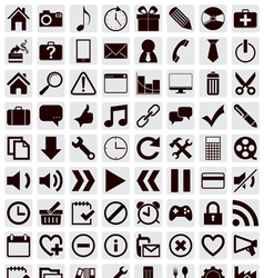 80 different web icons vector image