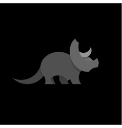 Animals design triceratops dinosaur vector