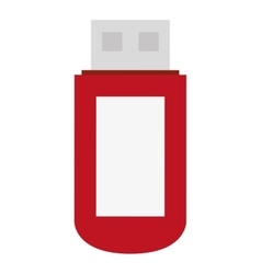 red white and grey usb vector image