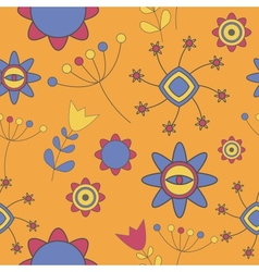Abstract Cute Background Flower Seamless Pattern vector image