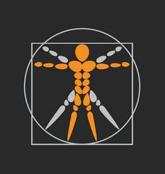 Anatomy logo icon design vector
