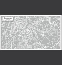 Bangalore india city map in retro style vector