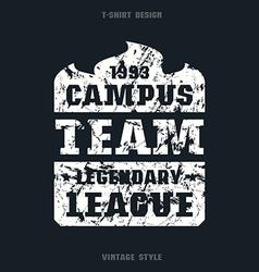 Campus sports emblem vector